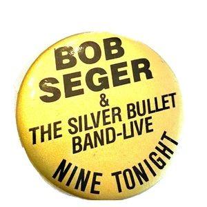 Vintage Bob Seger & Silver Bullet Band Button